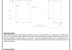 Asi 0852 Sanitary Napkin Disposal Surface Mounted