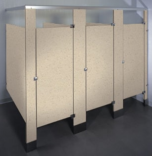 Phenolic Black Core bathroom stalls