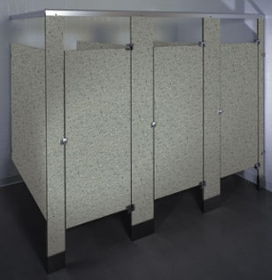 Phenolic Black Core Restroom Stalls