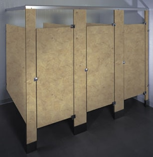 Phenolic Black Core bathroom stalls Toilet Partitions