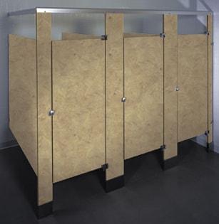 Phenolic Black Core bathroom stalls Toilet Partitions