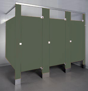 Phenolic Color-Thru Restroom Stalls