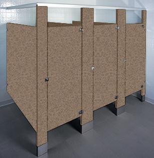 Plastic Laminate Restroom Stalls