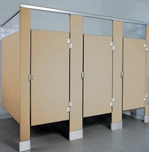 Solid Plastic bathroom stalls